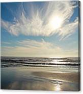 Late Afternoon On An Oregon Beach Canvas Print