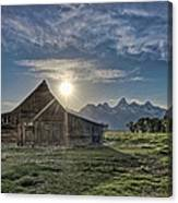 Late Evening At Moulton Barn Canvas Print