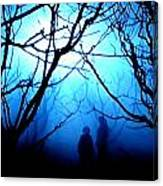 Late Full Moon Walk In The Wild Forest Canvas Print