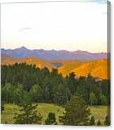 Late Light Mountains Canvas Print