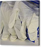 Latex Examination Gloves Canvas Print
