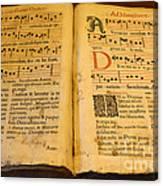 Latin Hymnal 1700 Ad Canvas Print