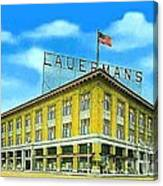 Lauerman's Department Store In Marinette Wi In 1910 Canvas Print