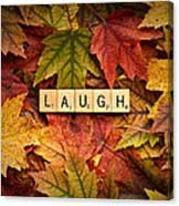 Laugh-autumn Canvas Print