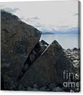 Laughing Rock On Lake Tekapo Foreshore.o Canvas Print