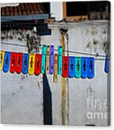 Laundry Clips Canvas Print