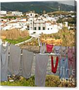 Laundry Day In Azores Canvas Print