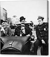 Laurel And Hardy, 1928 Canvas Print