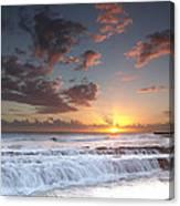 Lava Shelf Waterfall Canvas Print