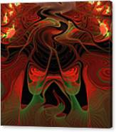 Red Hot Lava Canvas Print