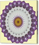 Lavender And Yellow Kaleidoscope Canvas Print