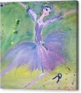 Lavender Ballerina Canvas Print