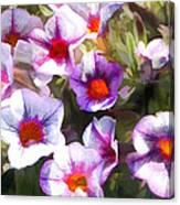 Lavender Million Bells Flowers Canvas Print