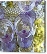Lavender Wine Glasses Canvas Print
