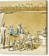 Lavoisier Experimenting Canvas Print