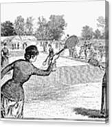 Lawn Tennis, 1883 Canvas Print