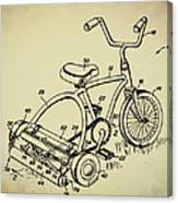 Lawnmower Tricycle Patent Canvas Print