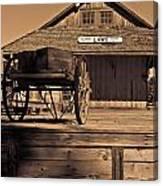 Laws Ca Historic Depot Canvas Print