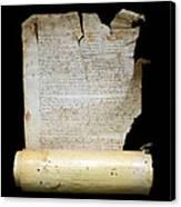 Lawsuit Of The Cathedral Chapter Of Calahorra. Pleito Del Cabildo Catedralicio De Calahorra Canvas Print