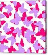 Layered Butterflies  Canvas Print