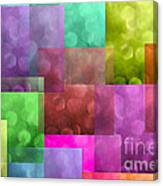 Layered Tiles Abstract Canvas Print