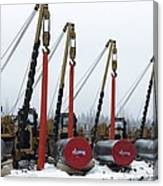 Laying A Gas Pipe Canvas Print