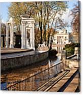 Lazienki Park In Warsaw Canvas Print