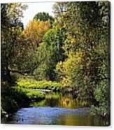 Lazy Autumn River Canvas Print
