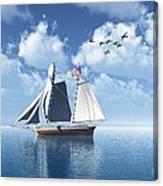 Lazy Day Sail Canvas Print