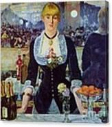 Le Bar Des Folies-bergere Canvas Print