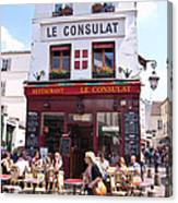 Le Consulat Cafe  Canvas Print