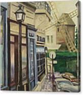 Le Moulin De La Galette Paris Canvas Print