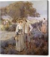 Le Retour De Cythere Canvas Print