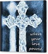 Lead Me To The Cross With Lyrics Canvas Print