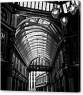 Leadenhall Market Black And White Canvas Print