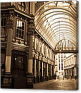 Leadenhall Market London Sepia Toned Image Canvas Print