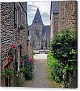 Leading To The Church Provence France Canvas Print