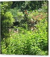 Leaming Run Gardens Pond Canvas Print