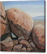 Leaning Rocks Canvas Print