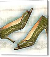 Leapin Green Lizards Pumps Canvas Print
