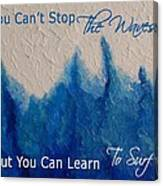 Learning To Surf Canvas Print