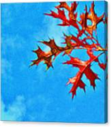 Leaves Against The Sky Canvas Print