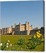 Leeds Castle In Spring 2 Canvas Print