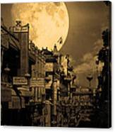 Legend Of The Great White Phoenix Of Chinatown . 7d7172 . Sepia Canvas Print