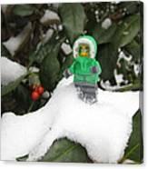 Lego Mini Eskimo In Holly  Canvas Print