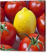 Lemon And Tomatoes Canvas Print
