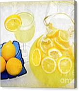 Lemonade And Summertime Canvas Print