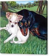 Lena And Peanut Canvas Print
