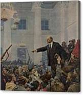 Lenin 1870-1924 Declaring Power Canvas Print