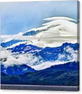 Lenticular And The Chugach Mountains Canvas Print